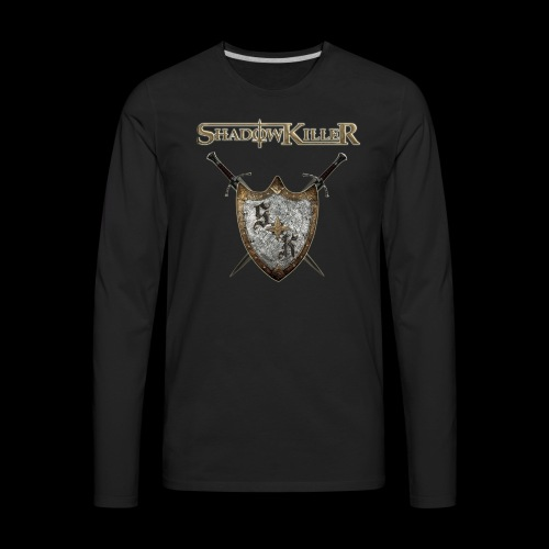 sk golden shield with band logo - Men's Premium Long Sleeve T-Shirt