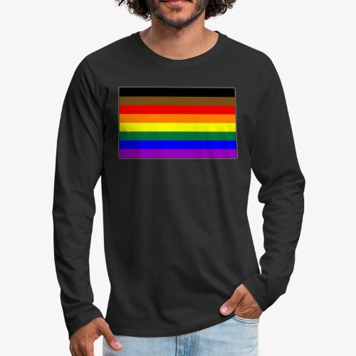 Philly LGBTQ Gay Pride Flag - Men's Premium Long Sleeve T-Shirt