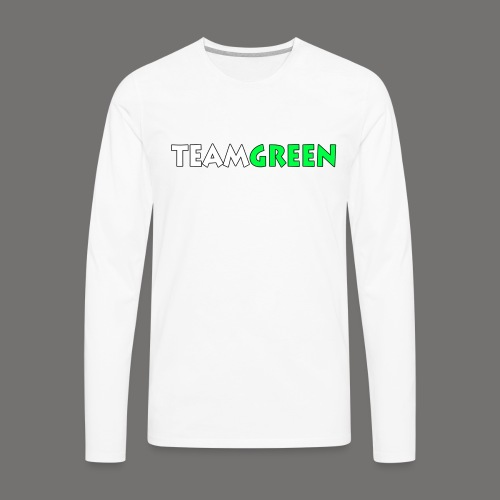 TeamGreen png - Men's Premium Long Sleeve T-Shirt