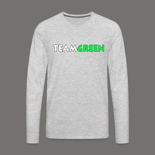 TeamGreen png - Men's Premium Long Sleeve T-Shirt