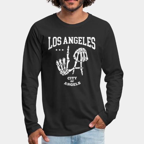 los angeles la city of angels - Men's Premium Long Sleeve T-Shirt
