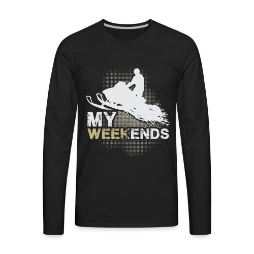 Snowmobile My Weekends - Men's Premium Long Sleeve T-Shirt