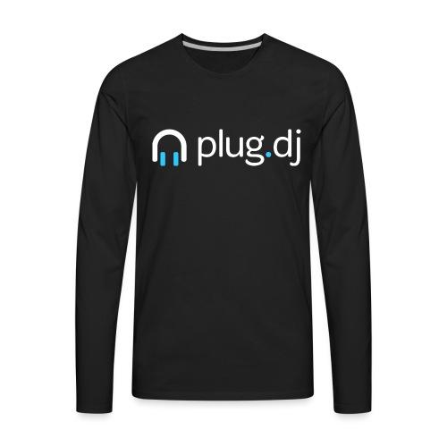 plugdj logo white png - Men's Premium Long Sleeve T-Shirt