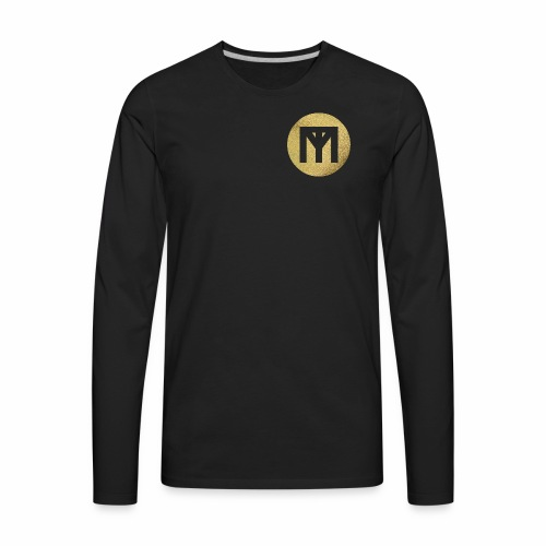 Trend Monster Gold Circle LOGO - Men's Premium Long Sleeve T-Shirt