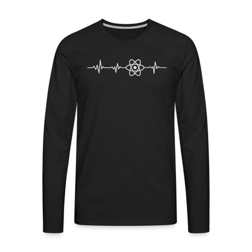 Heart beat - javascript - Men's Premium Long Sleeve T-Shirt