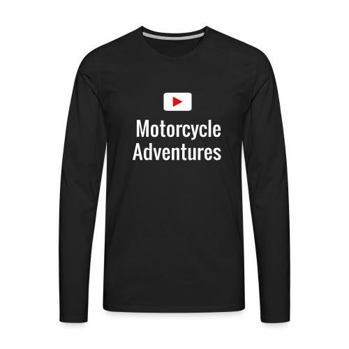 Motorcycle Adventures Youtube - Men's Premium Long Sleeve T-Shirt