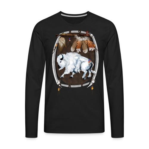White Buffalo Shield - Men's Premium Long Sleeve T-Shirt