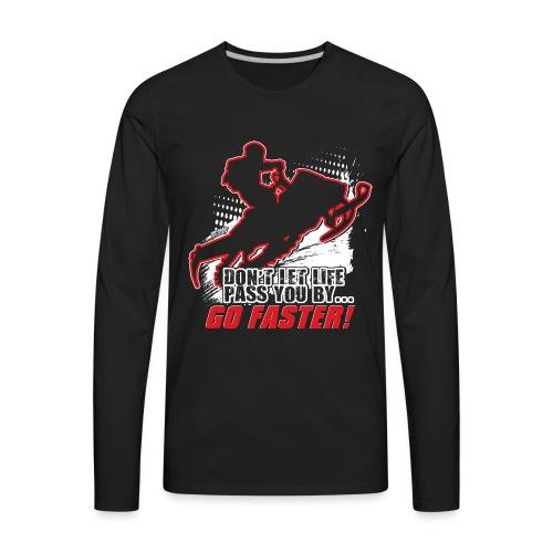 Snowmobile Faster Red - Men's Premium Long Sleeve T-Shirt