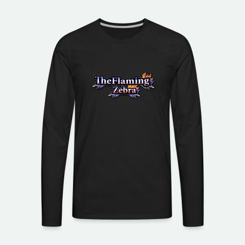 BIG TheFlamingZebra Logo - Men's Premium Long Sleeve T-Shirt