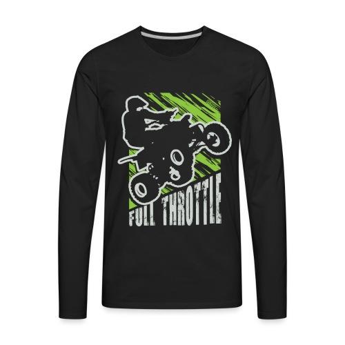 ATV Quad Full Throttle - Men's Premium Long Sleeve T-Shirt