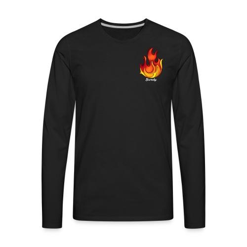 Scorchy White Logo - Men's Premium Long Sleeve T-Shirt