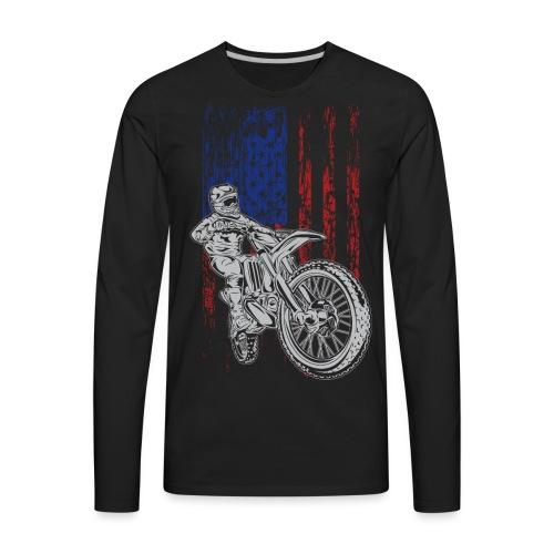 Motocross USA Race Rider - Men's Premium Long Sleeve T-Shirt