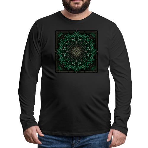 Psychedelic Mandala Geometric Illustration - Men's Premium Long Sleeve T-Shirt