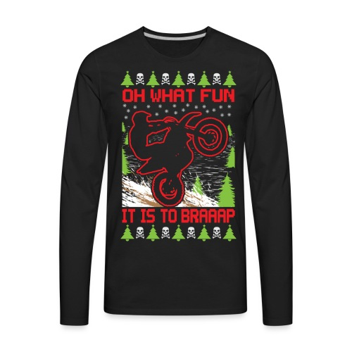 Ugly Christmas Motocross - Men's Premium Long Sleeve T-Shirt
