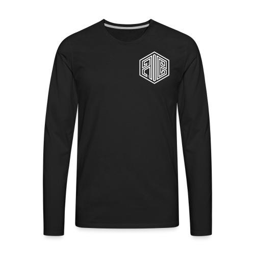 Blackout // WHITE Brand Logo > BLACK - Men's Premium Long Sleeve T-Shirt