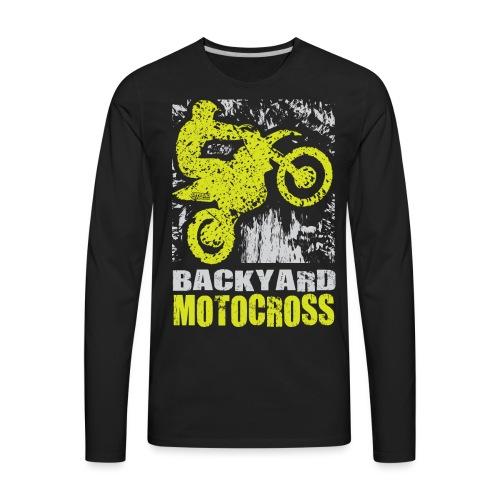 Backyard Motocross Kawasaki - Men's Premium Long Sleeve T-Shirt