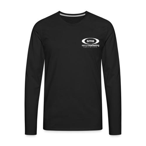 SMS White Logo - Men's Premium Long Sleeve T-Shirt