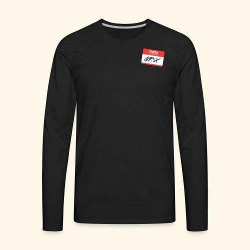 NameTag - Men's Premium Long Sleeve T-Shirt