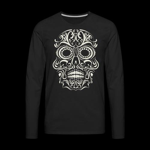 Sugar Skull Calavera - Men's Premium Long Sleeve T-Shirt