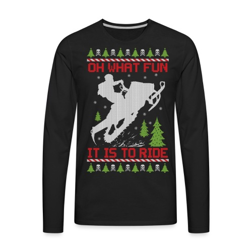 Ugly Christmas Snowmobile - Men's Premium Long Sleeve T-Shirt