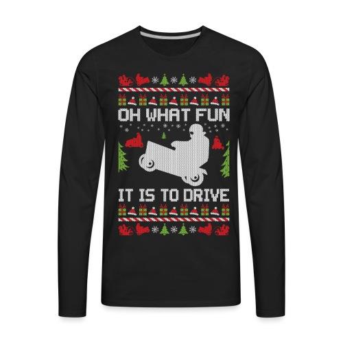 Lawnmower Christmas - Men's Premium Long Sleeve T-Shirt