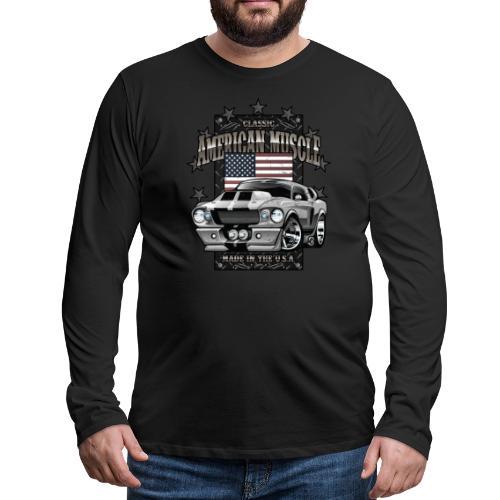Classic American Muscle Car - Men's Premium Long Sleeve T-Shirt