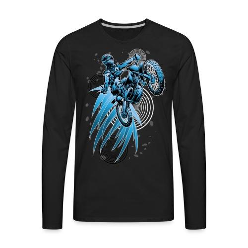 Blue Psycho Dirt Biker - Men's Premium Long Sleeve T-Shirt