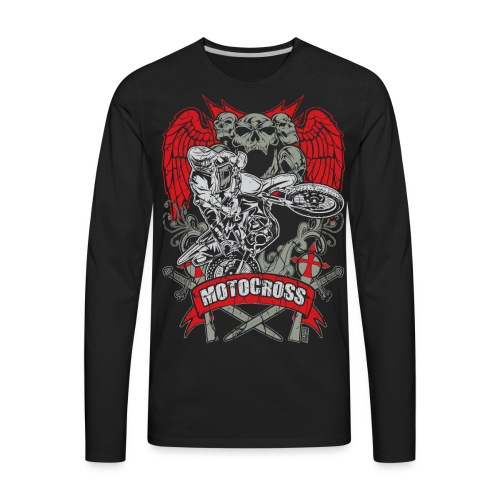 Motocross Extreme Tattoo - Men's Premium Long Sleeve T-Shirt