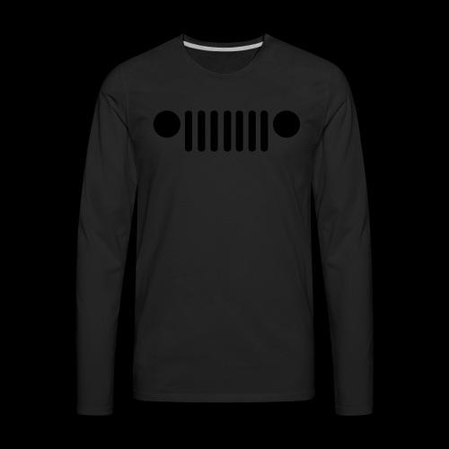 Jeep Grille - Men's Premium Long Sleeve T-Shirt