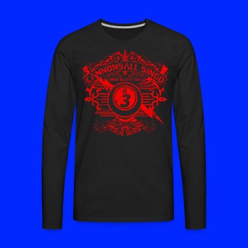 Vintage Cannonball Bingo Crest Red - Men's Premium Long Sleeve T-Shirt