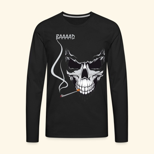 bad smoking skull long sleeve shirts - Men's Premium Long Sleeve T-Shirt