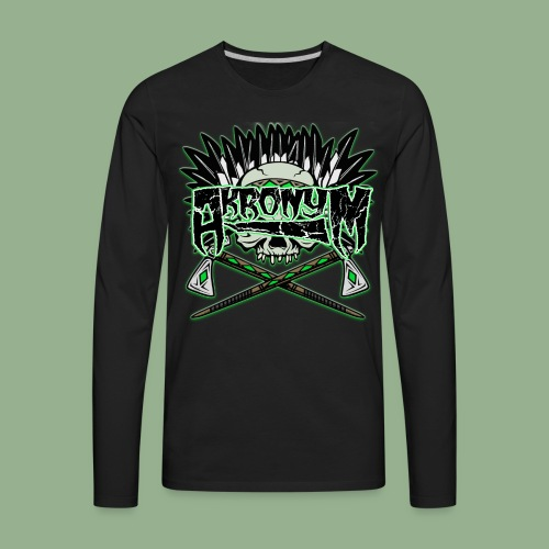 Akronym Skull and Logo - Men's Premium Long Sleeve T-Shirt