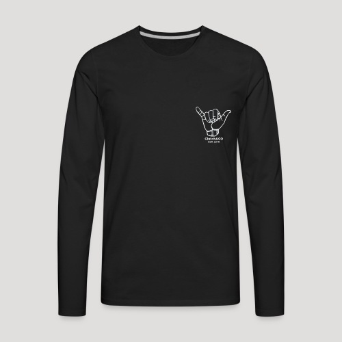 Grey Shaka for Black Clothing - Men's Premium Long Sleeve T-Shirt