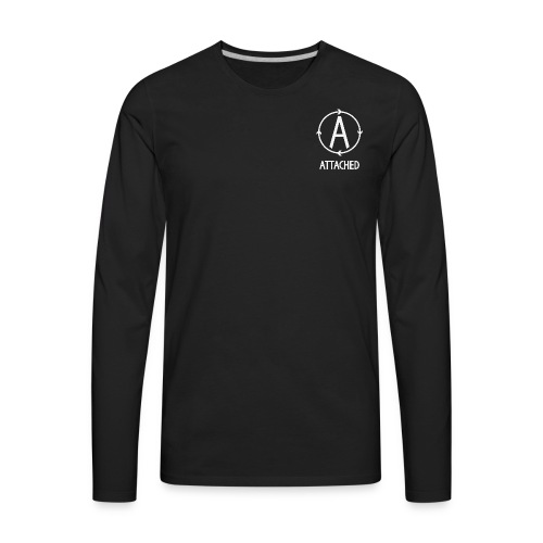 Logo with Name - Men's Premium Long Sleeve T-Shirt