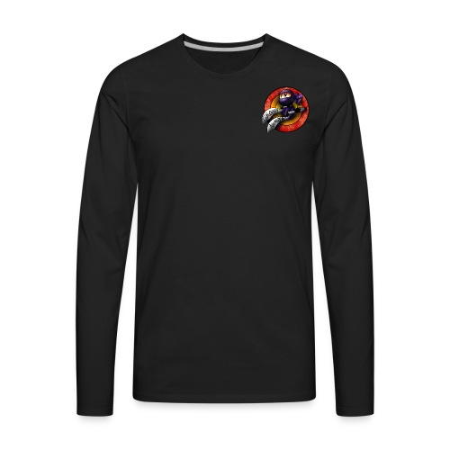 Groovy Ninja Logo - Men's Premium Long Sleeve T-Shirt