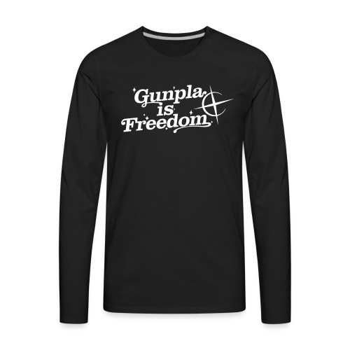 Freedom Men's T-shirt — Banshee Black - Men's Premium Long Sleeve T-Shirt