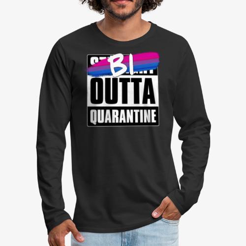 Bi Outta Quarantine - Bisexual Pride - Men's Premium Long Sleeve T-Shirt