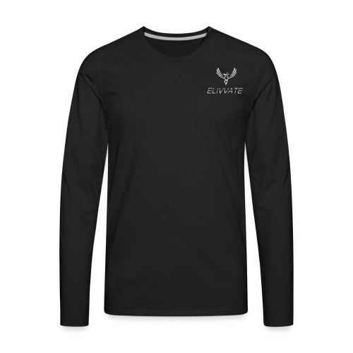 Official White Elivvate Logo - Men's Premium Long Sleeve T-Shirt