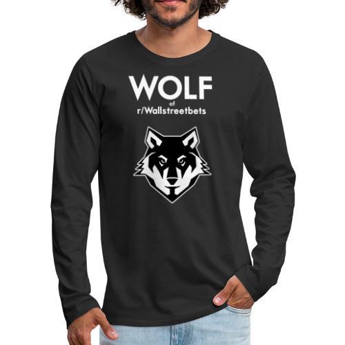 Wolf of Wallstreetbets - Men's Premium Long Sleeve T-Shirt