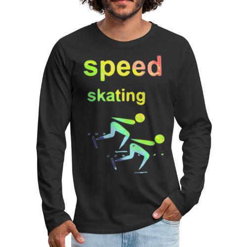 speed skating Winter Games 2reborn - Men's Premium Long Sleeve T-Shirt