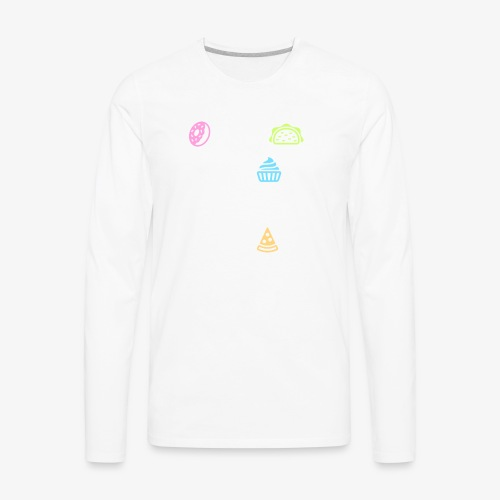 Donut Taco Bout Carbs Or You'll Get A Pizza Me v1 - Men's Premium Long Sleeve T-Shirt