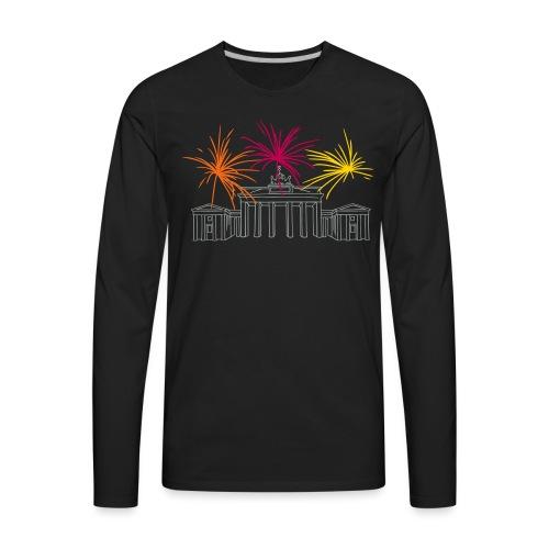 Newyearseve at Brandenburg Gate Berlin - Men's Premium Long Sleeve T-Shirt