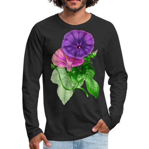 Vintage Mallow flower - Men's Premium Long Sleeve T-Shirt