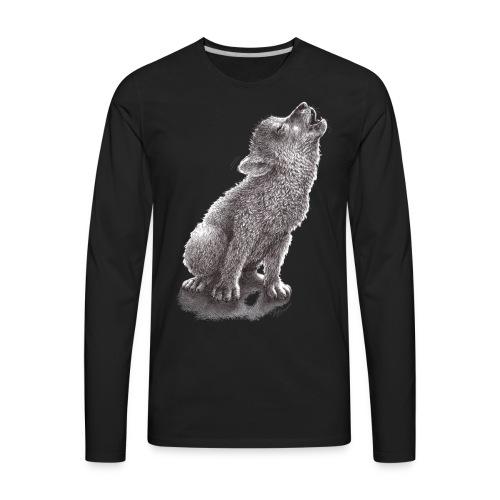 Little Howling Wolf - Men's Premium Long Sleeve T-Shirt