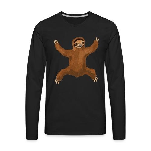 Sloth Love Hug - Men's Premium Long Sleeve T-Shirt
