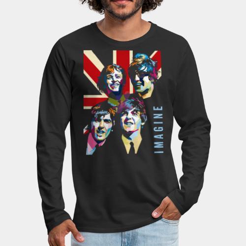 pop art imagine music - Men's Premium Long Sleeve T-Shirt