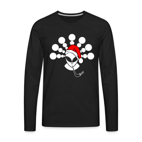 Christmas Alien White - Men's Premium Long Sleeve T-Shirt