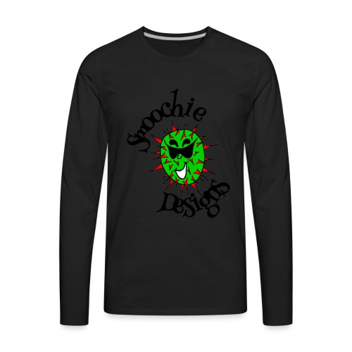 Smoochie Designs logo - Men's Premium Long Sleeve T-Shirt