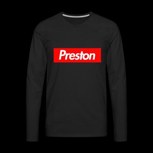 RealPrestonGamez Supreme Box - Men's Premium Long Sleeve T-Shirt