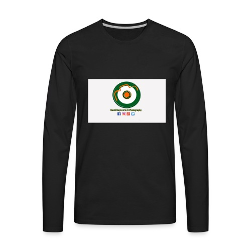 David Doyle Arts & Photography Logo - Men's Premium Long Sleeve T-Shirt